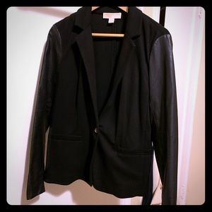 Michael Kors Blazer with leather sleeves